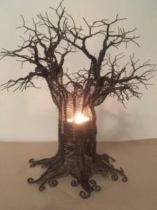 väggträd med belysning