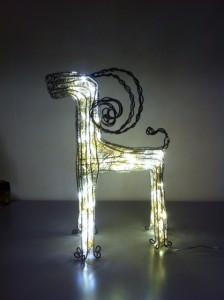 julbock, lampa,avanceradbelysning,konst,skulptur,present,hantverk,bock,julpynt